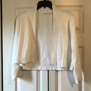 Calvin Klein White Shrug Sweater Bolero Large